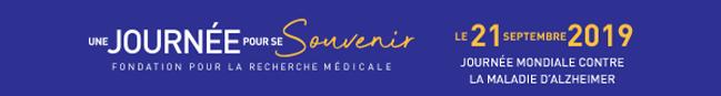 Fondation pour la recherche médicale - Une journée pour se souvenir, le 21 septembre 2019   journée mondiale contre la maladie d'Alzheimer